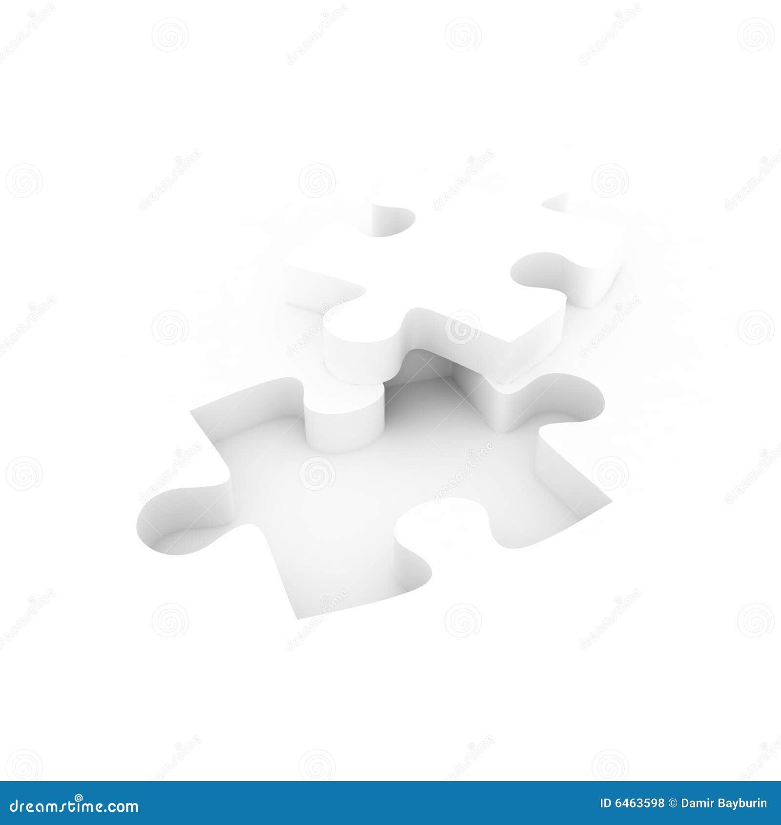 Układanki white