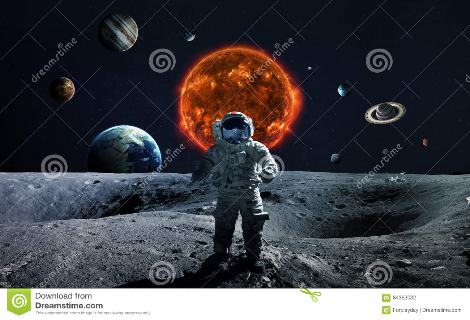 Układu Słonecznego i przestrzeni przedmioty Elementy ten wizerunek meblujący NASA
