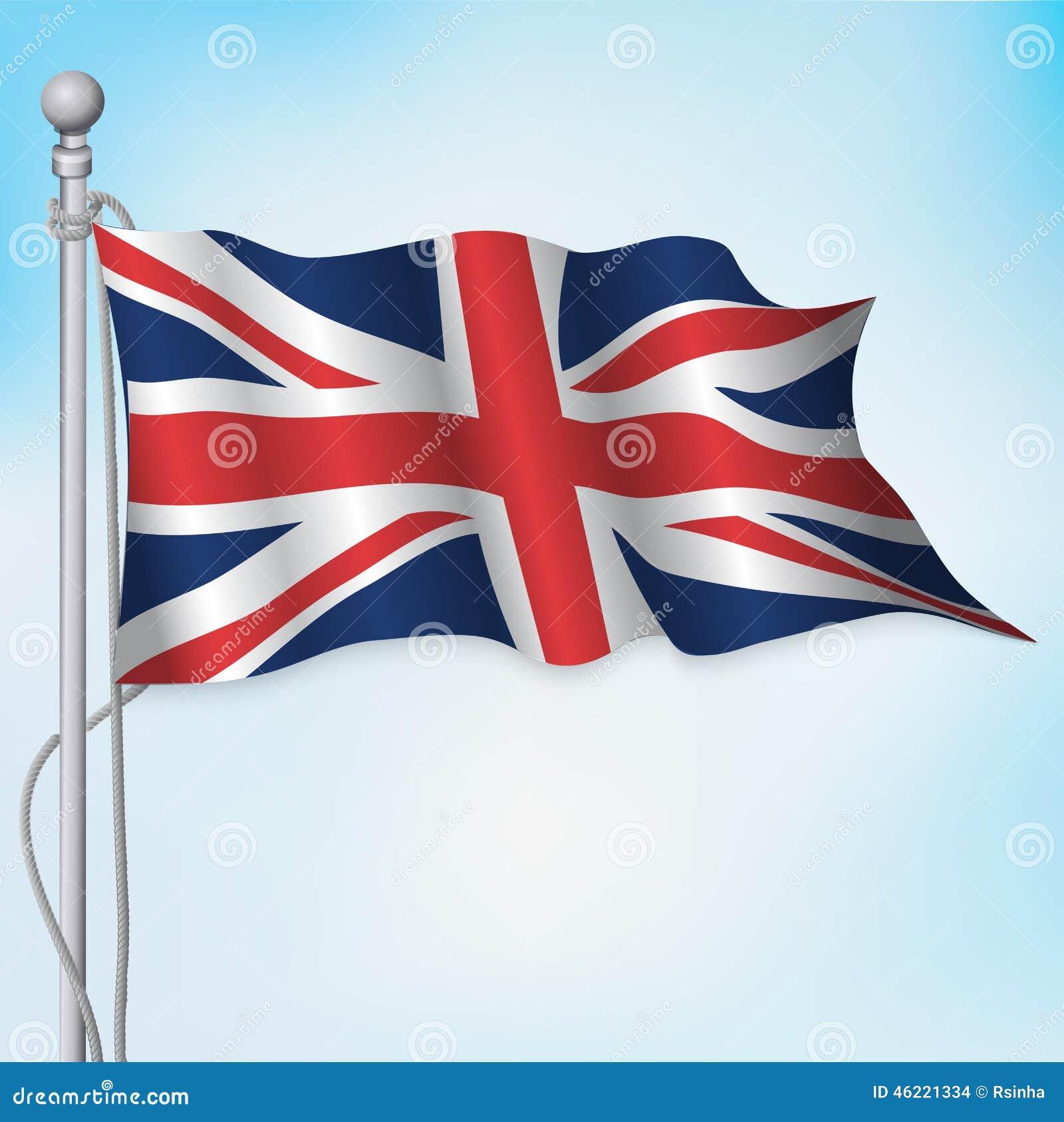 uk british flag waving stock vector image 46221334