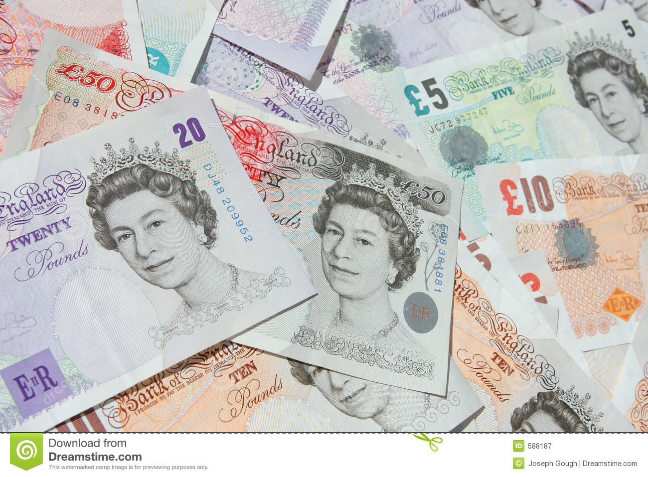 UK Currency Banknotes Money Editorial Photography - Image: 588187