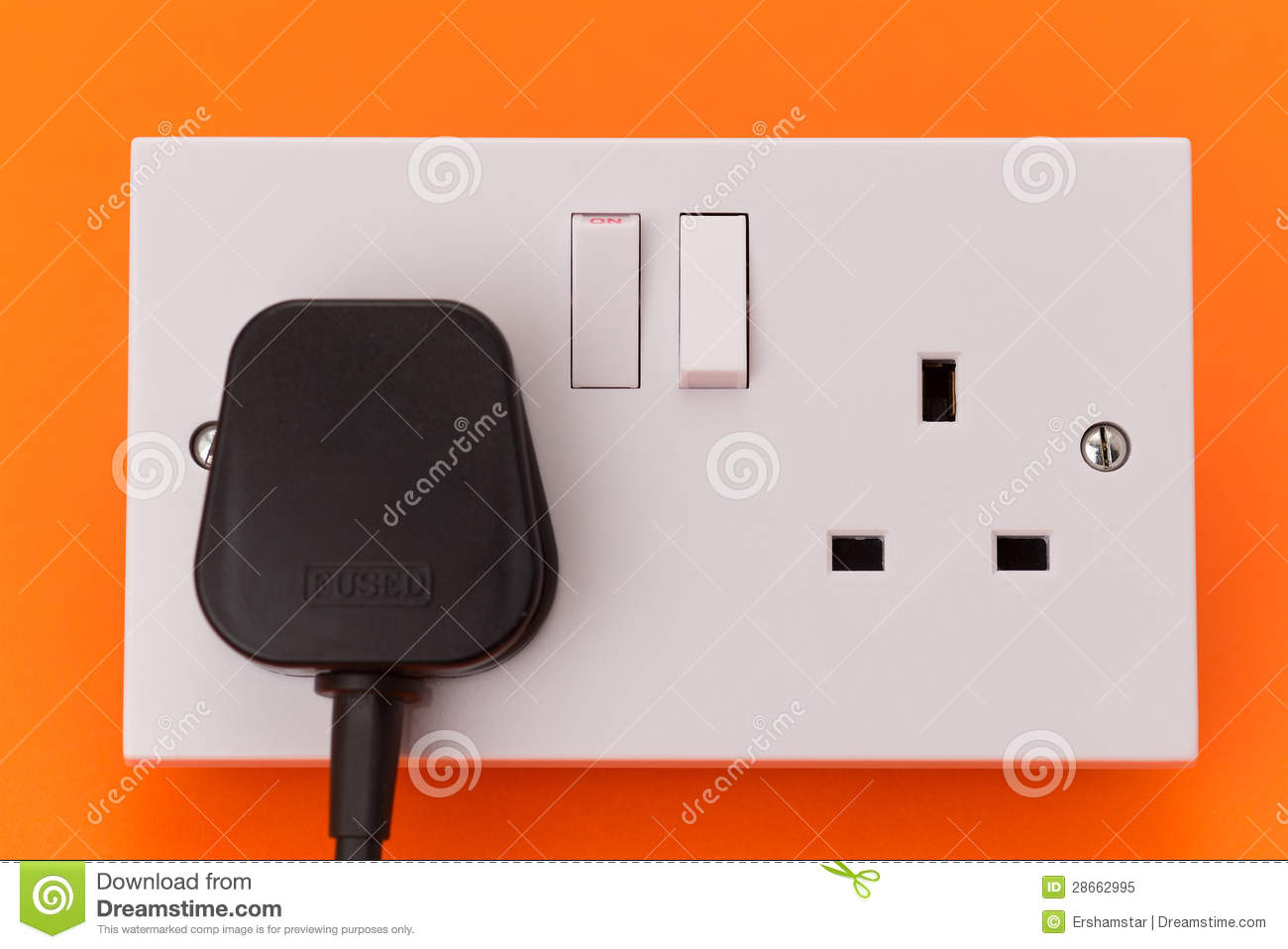UK Electrical Wall Socket Outlet And Plug Stock Image - Image of ...