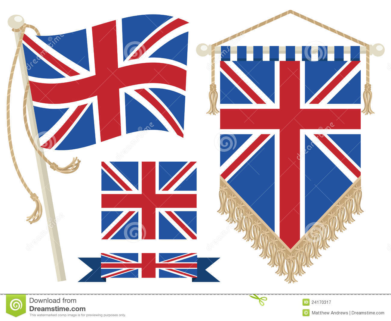 Uk flag and pennant