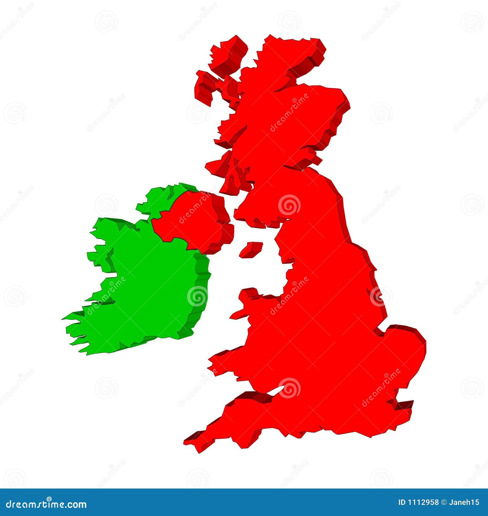 Map Of Uk And Ireland.Uk And Ireland Map Stock Illustration Illustration Of England 1112958