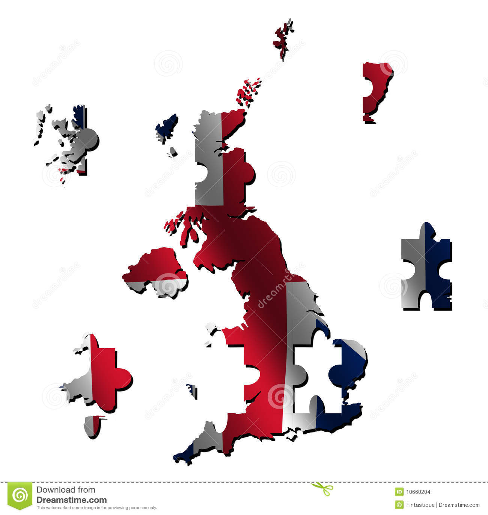 Map Of Uk Jigsaw.Uk Map Flag Jigsaw Stock Illustration Illustration Of Concept
