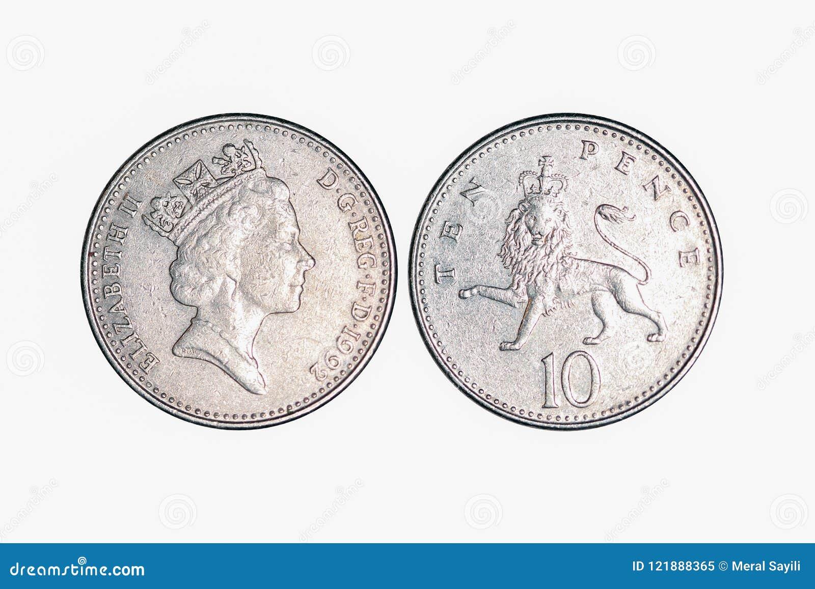UK metalu pieniądze, 10 pens