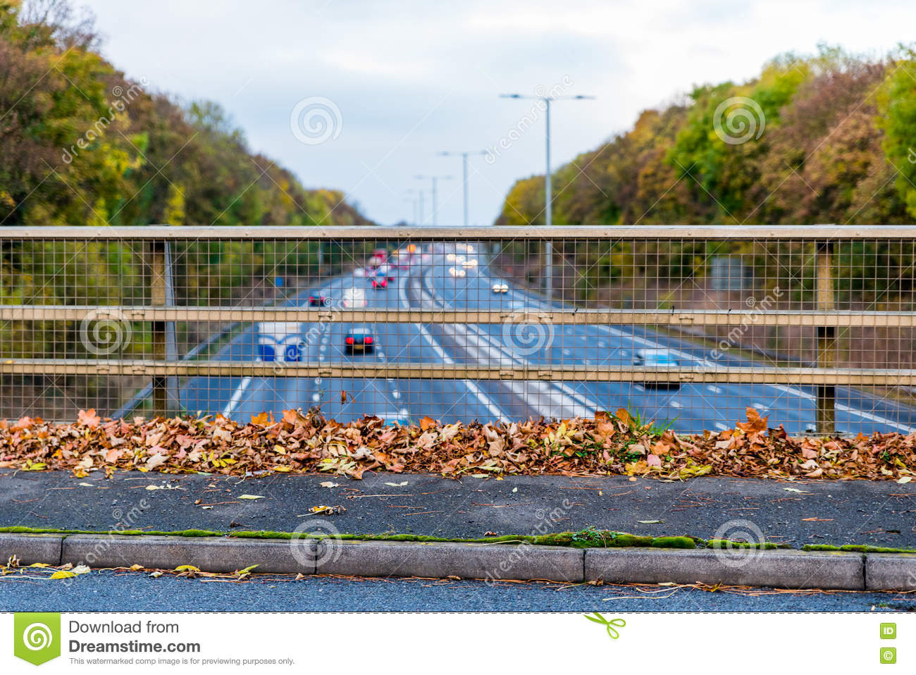 UK Motorway in Autumn