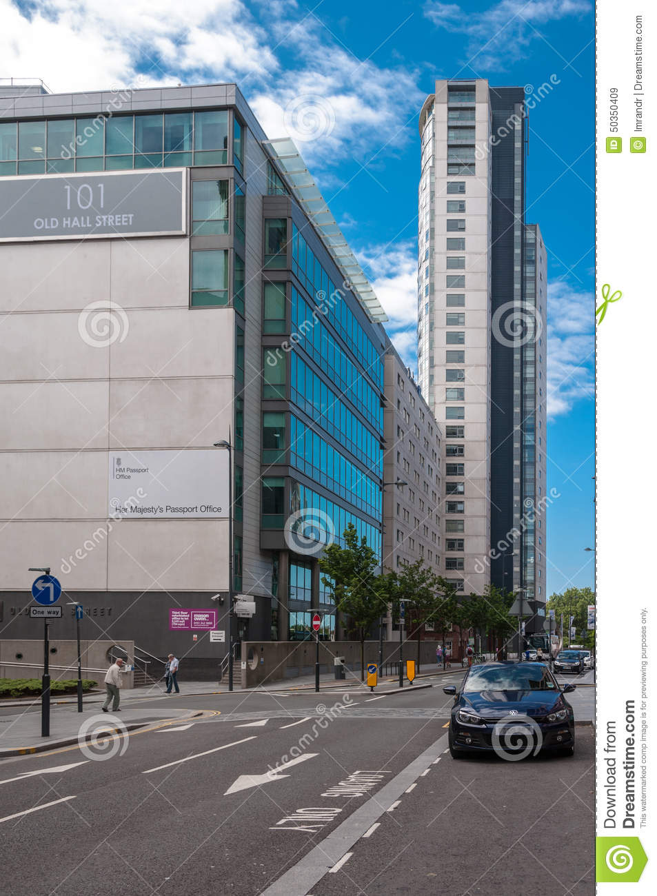 UK Passport Office Liverpool, UK Editorial Stock Image