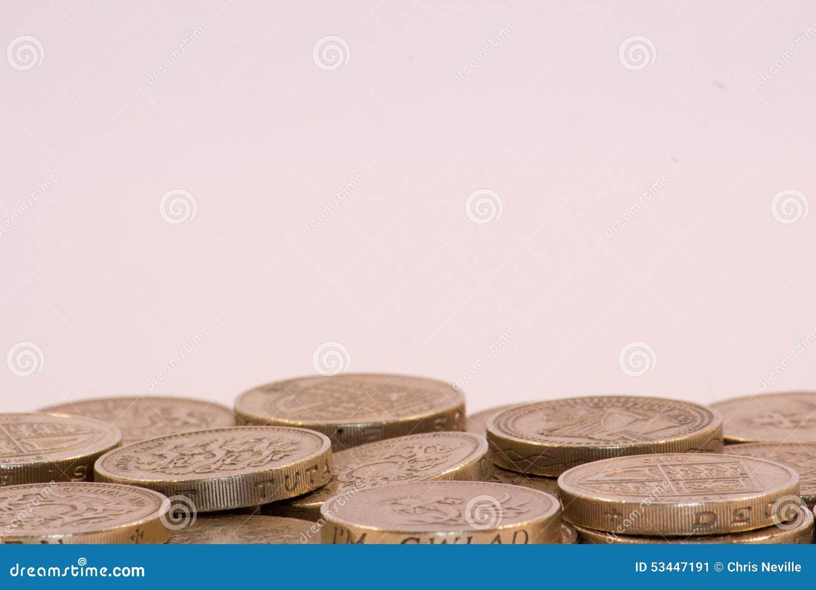 UK-pundmynt på vit bakgrund