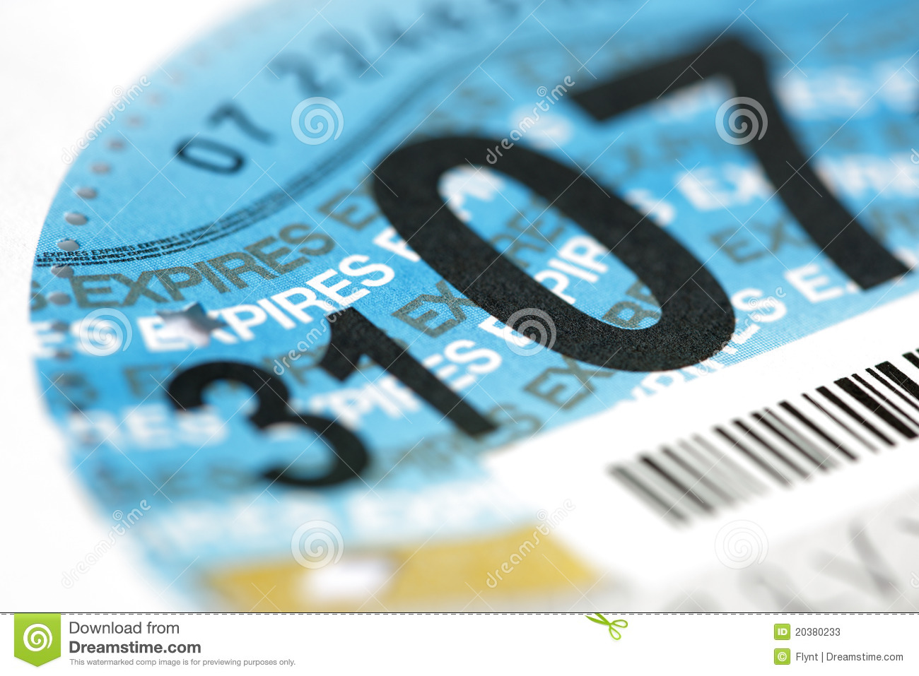 UK road tax disc Stock Photos