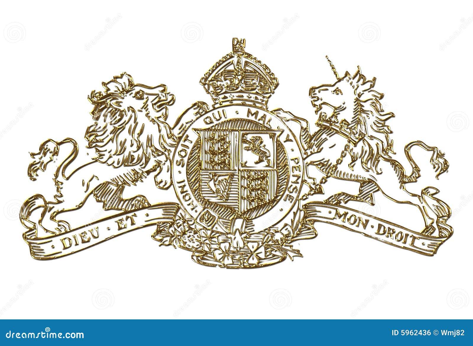 Uk Royal Coat Of Arms Symbol Stock Illustration