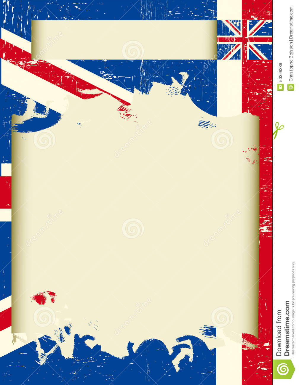 Uk Scratched Poster Stock Vector Illustration Of Obsolete