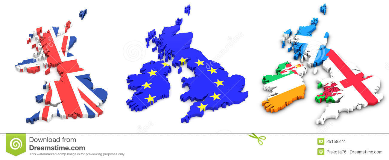 uk states and ireland flags stock images