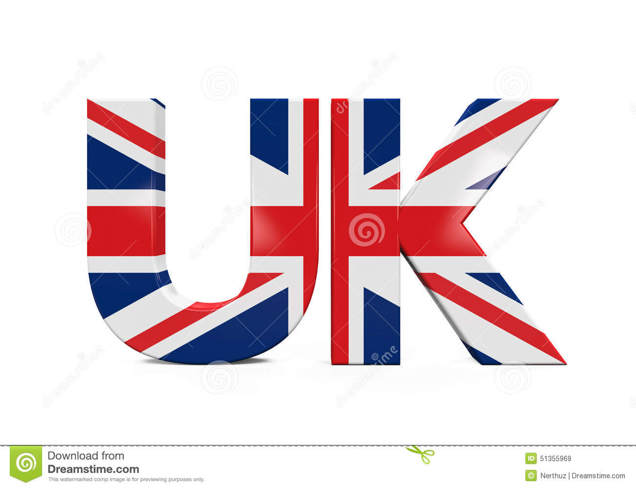 UK Text With Flag Stoc...