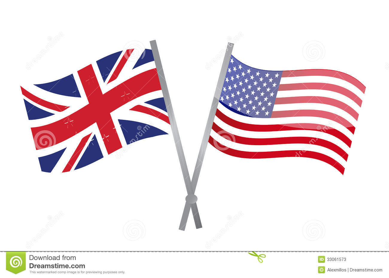 uk and usa flags join together  illustration stock illustration