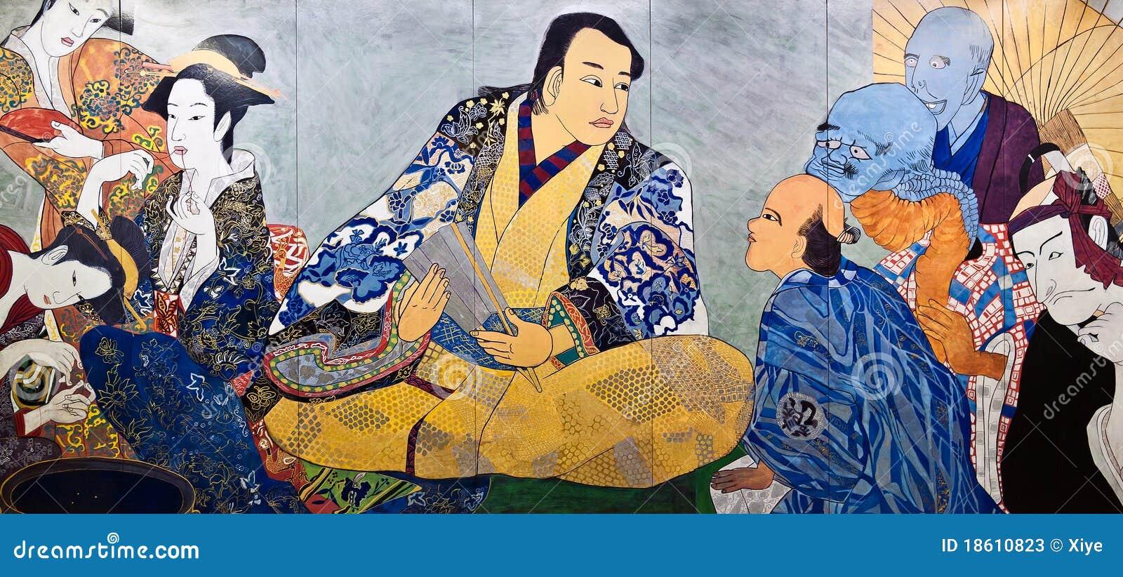 Ukiyo-e japonês da pintura