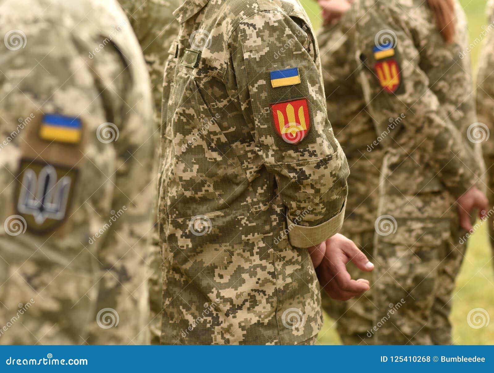 Ukraina łaty flaga na wojsko mundurze Ukraina wojskowy uniform UK