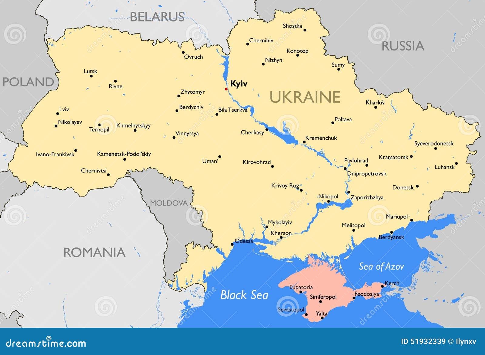 Ukraina Mapa Ilustracja Wektor Ilustracja Zlozonej Z Eurydice