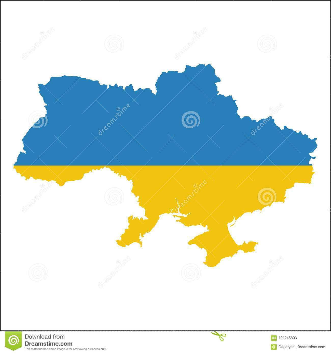 Ukraine high resolution map with national flag stock vector ukraine high resolution map with national flag royalty free vector gumiabroncs Choice Image