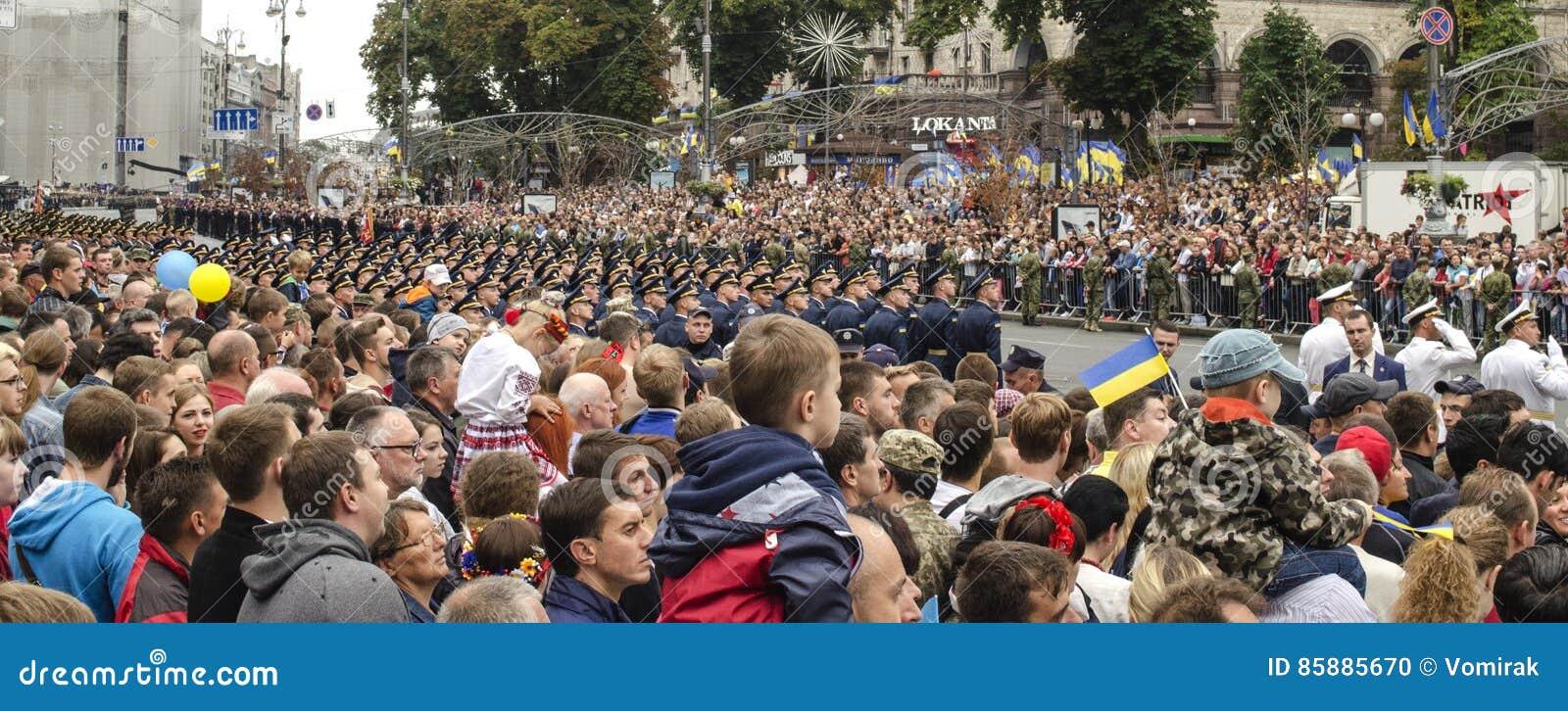 Ukraine, Kiev, August 24, 2016. Military parade dedicated to the Independence Day of Ukraine.