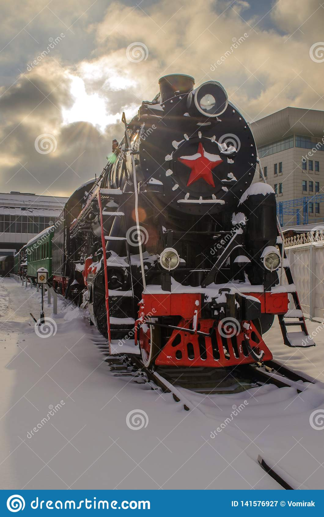 Ukraine, Kiev, January 24, 2019. Railway Museum.