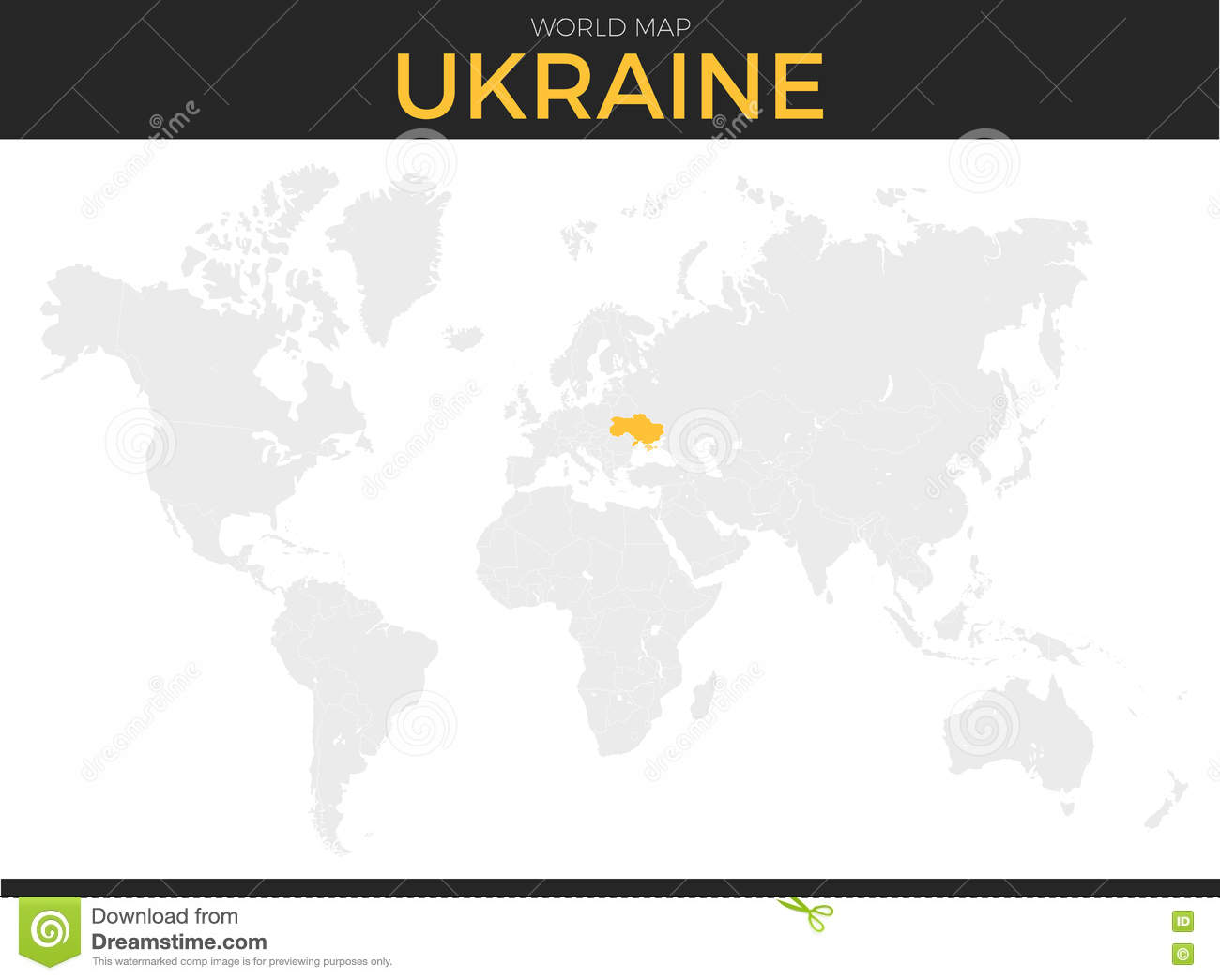 Ukraine Location Map Stock Vector Illustration Of Detail 73687317