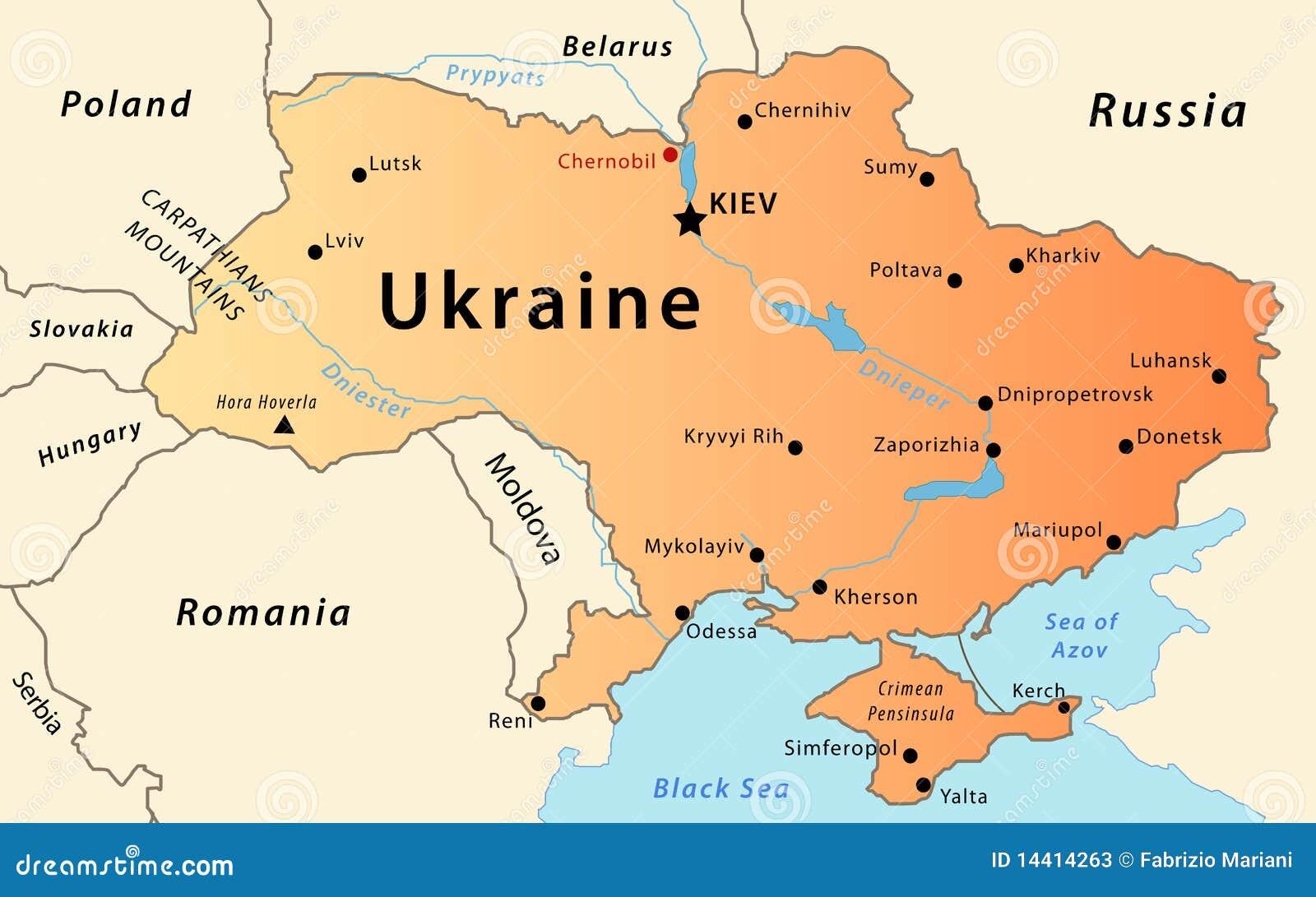 Ukraine map stock vector illustration of crimean european 14414263 ukraine map publicscrutiny Gallery