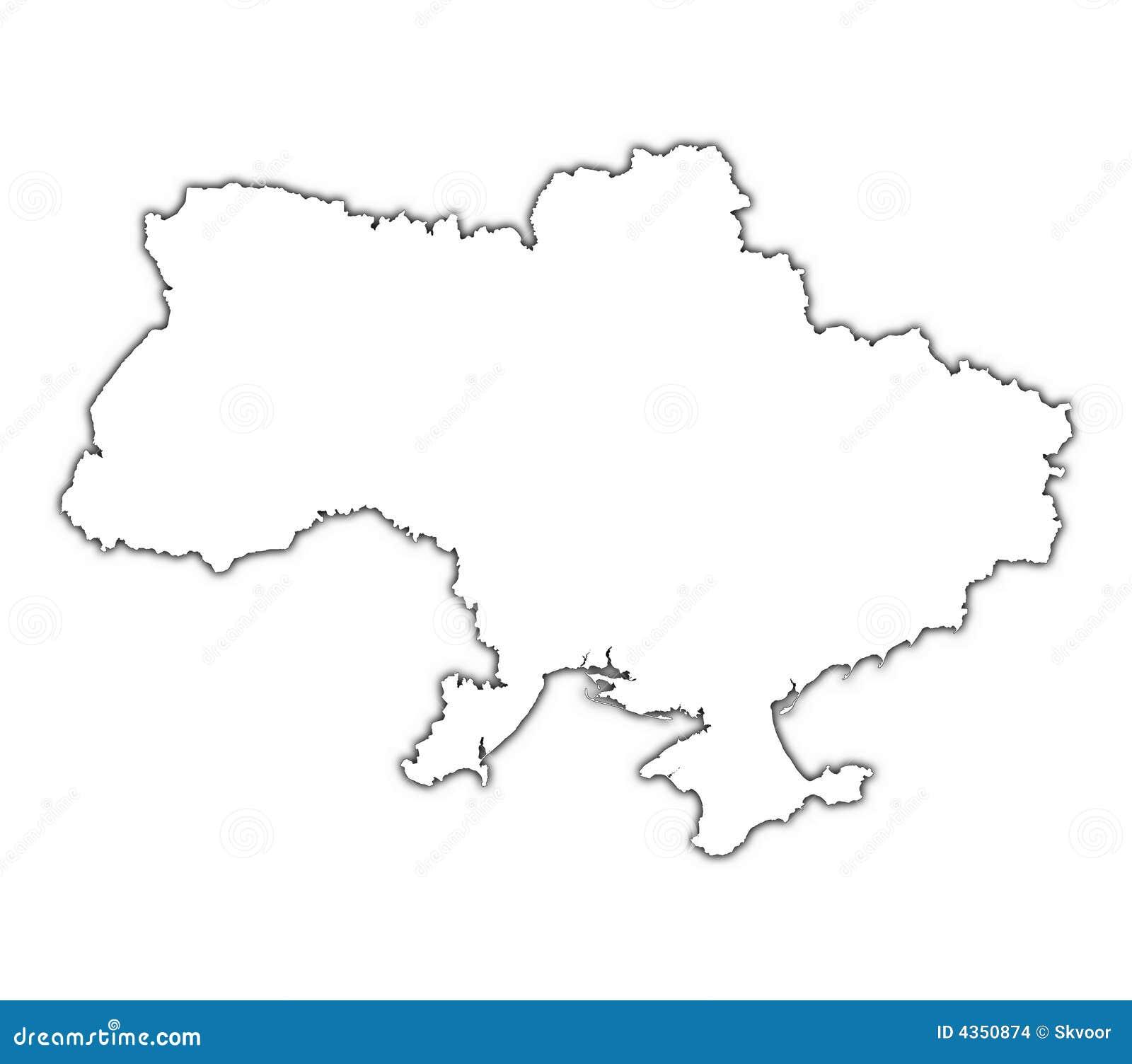 Ukraine Map Outline Ukraine Outline...