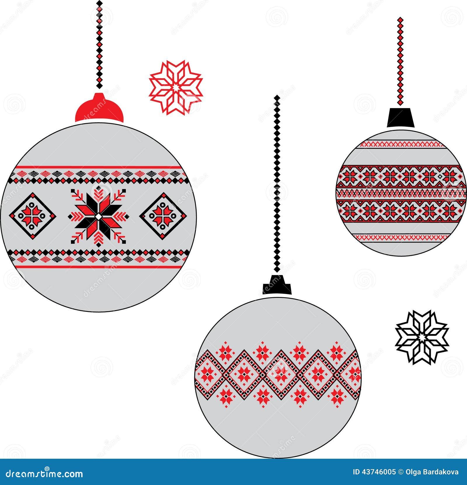 Ukrainian Christmas Ball Stock Photo - Image: 43746005