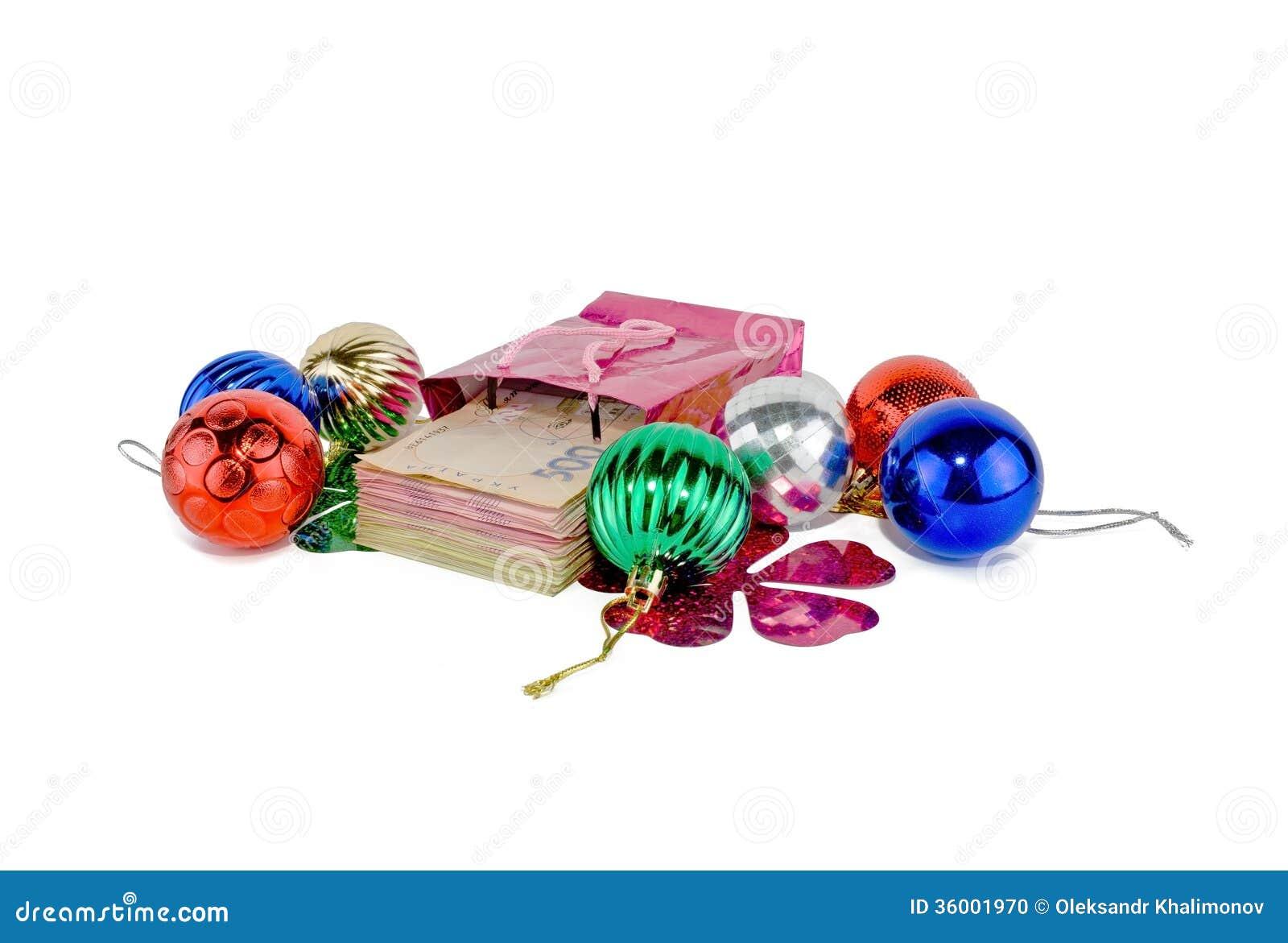 Ukrainian christmas money stock photo image
