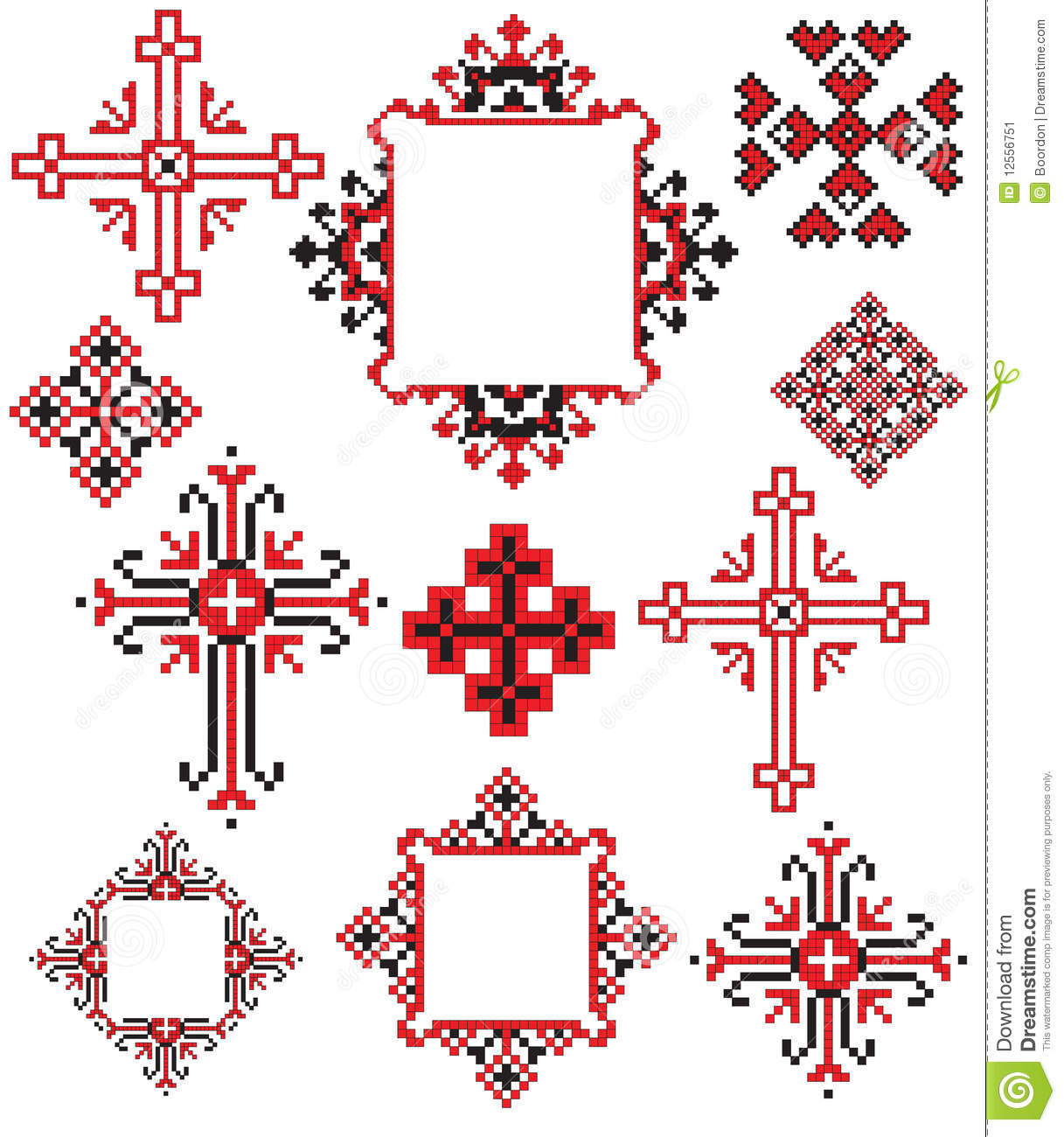 Ukrainian cross embroider