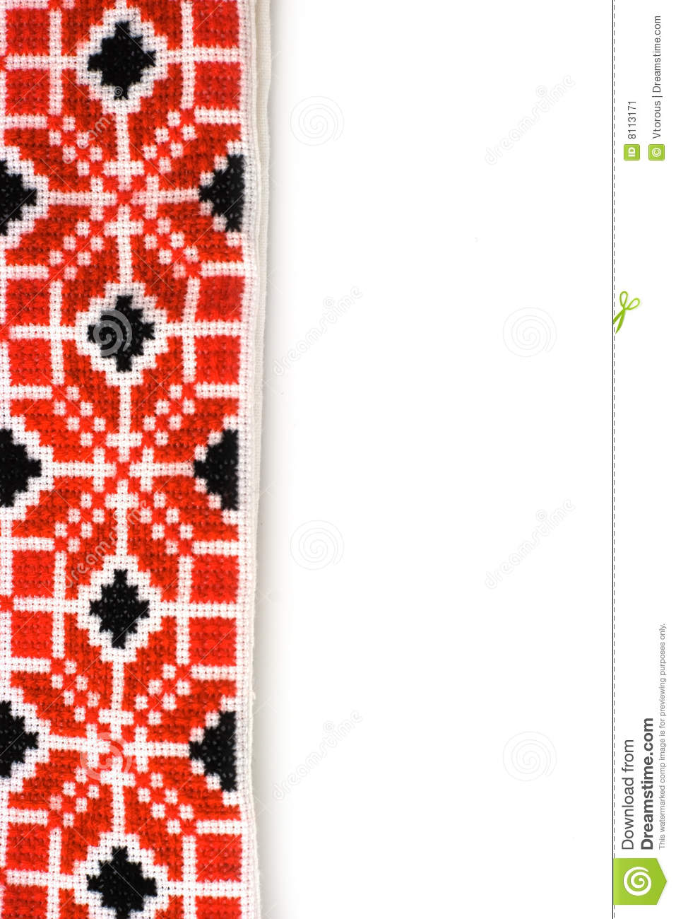 ukrainian embroidery stock image