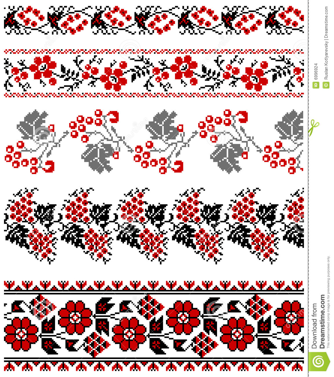 Ukrainian embroidery floral collection #06
