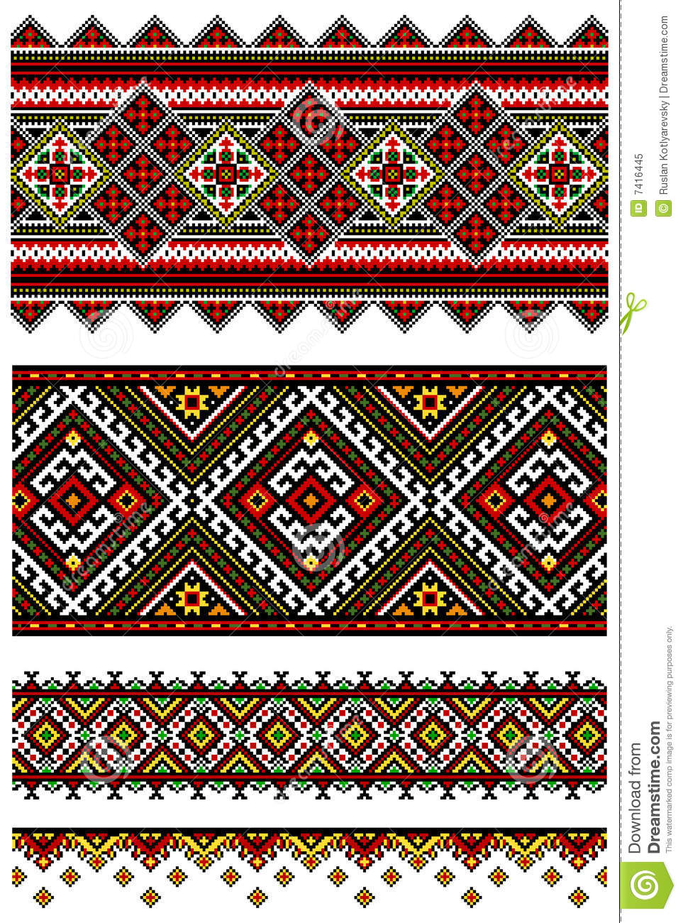 Ukrainian embroidery geometric collection #09