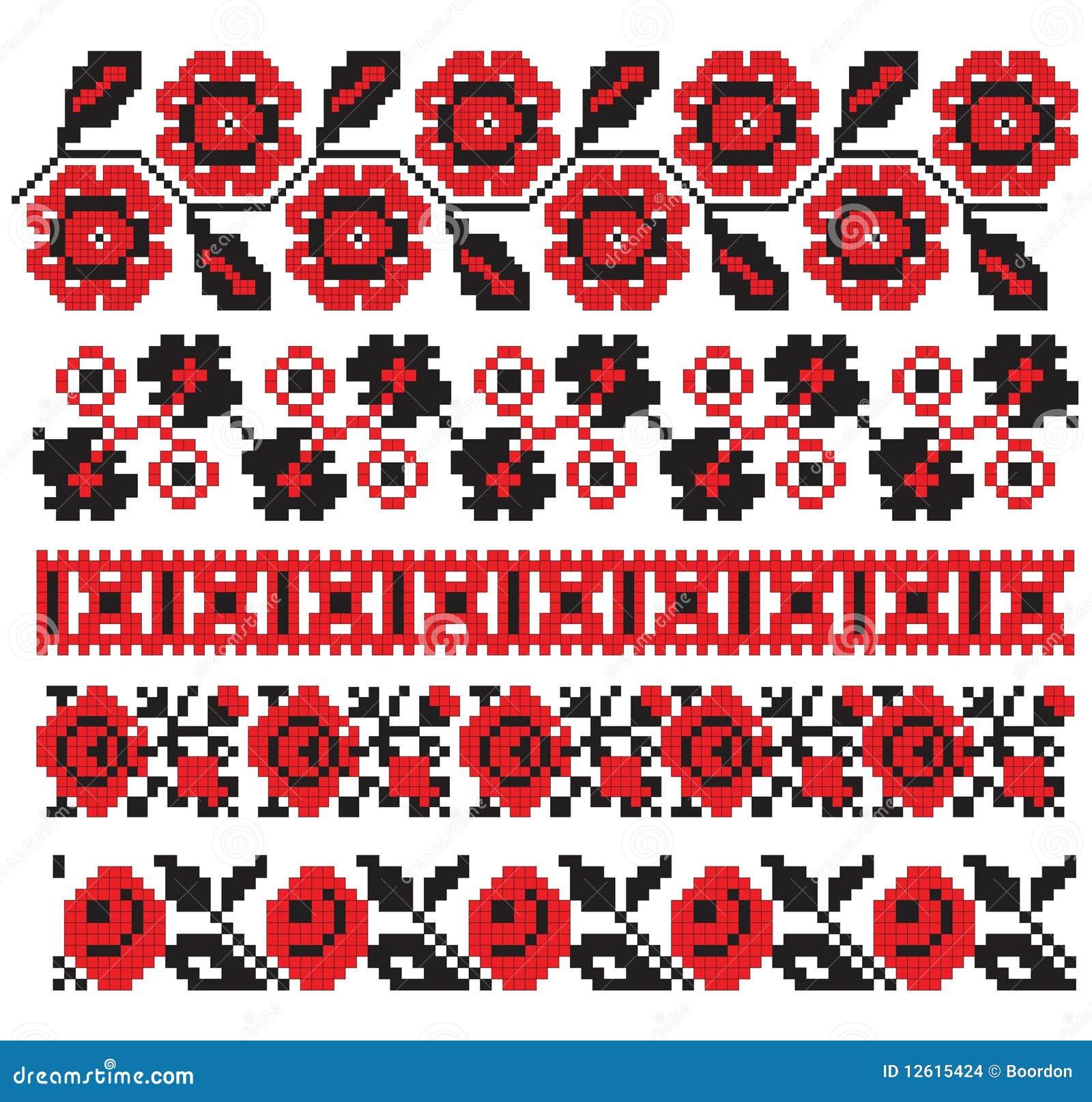 Ukrainian embroidery pattern stock vector illustration