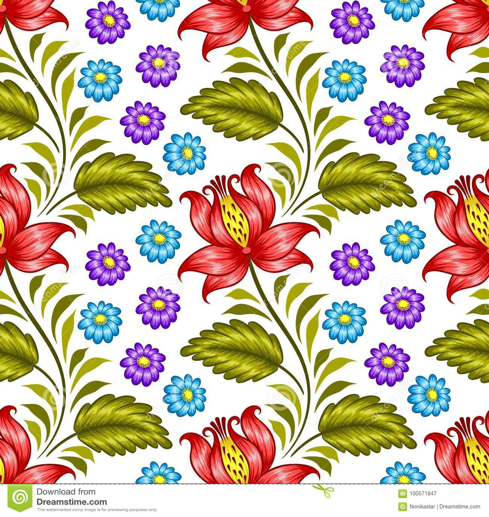 Ukrainian floral pattern