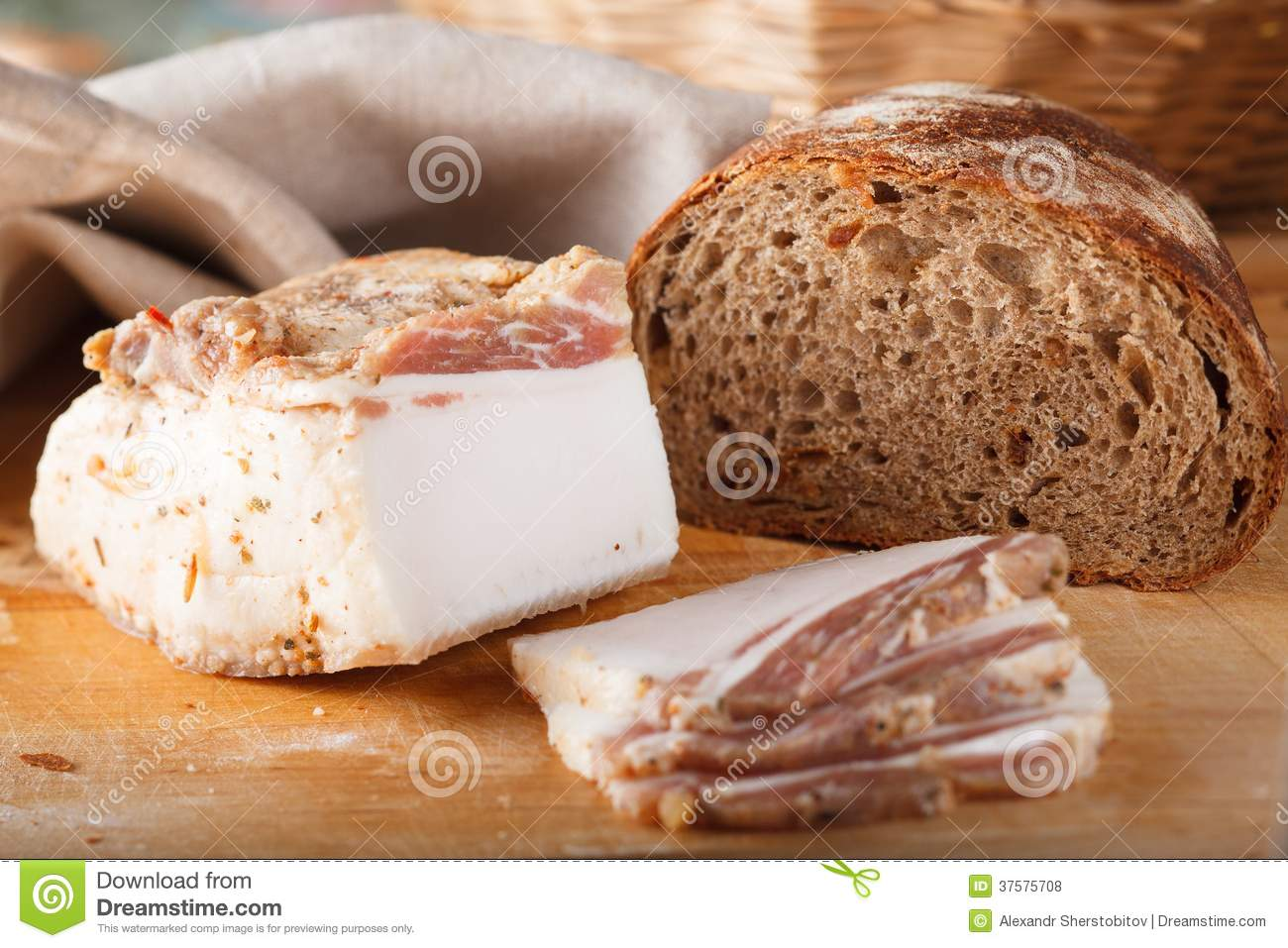 Ukrainian Lard Stock Image Stock Photo Image Of