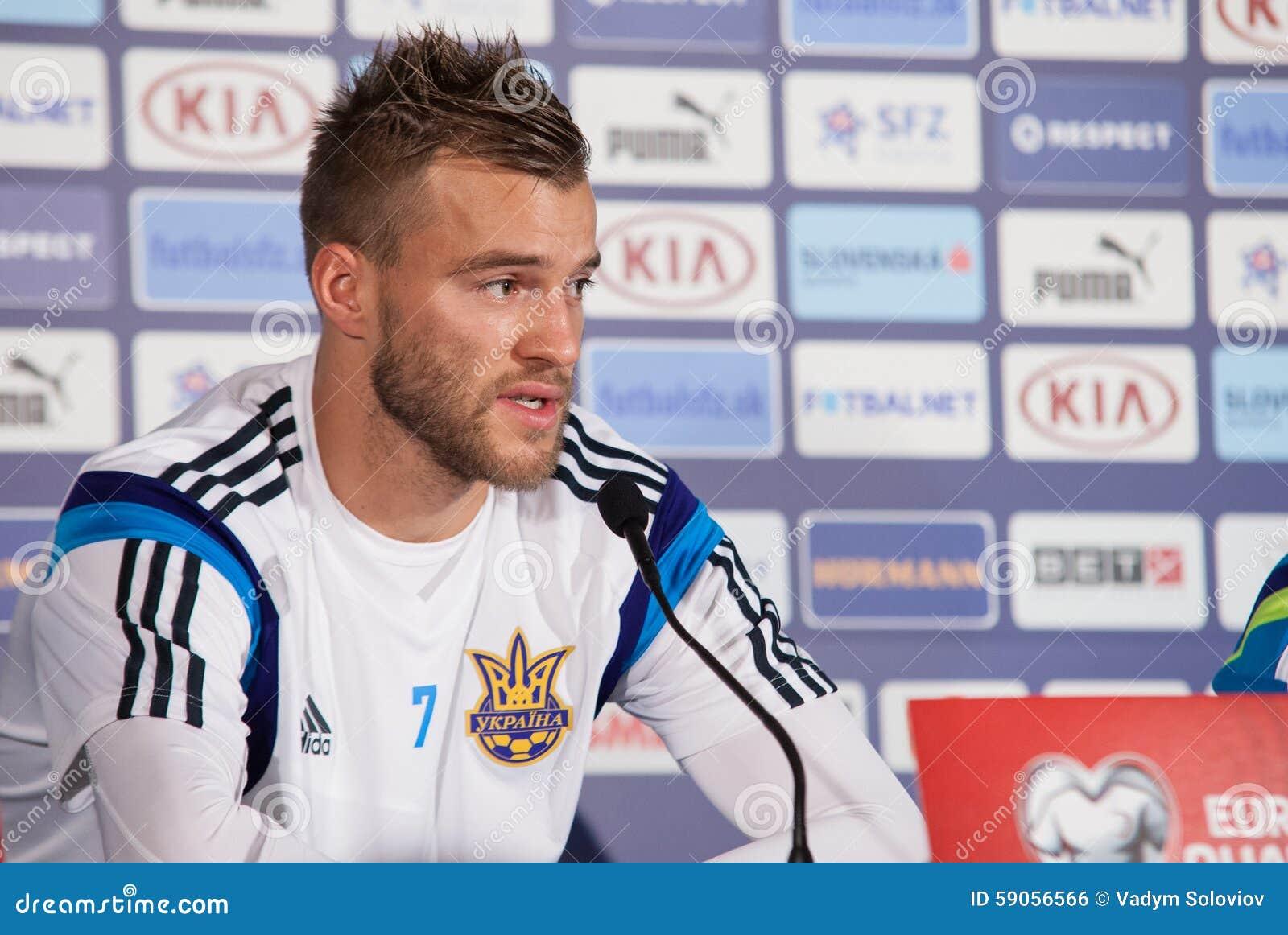 Ukrainian National Soccer Team Player Andriy Yarmolenko Editorial