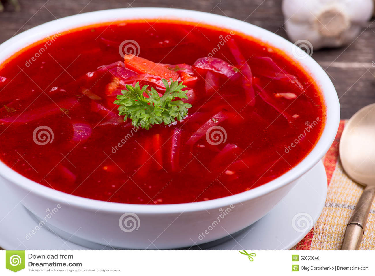 ukrainian red borscht soup