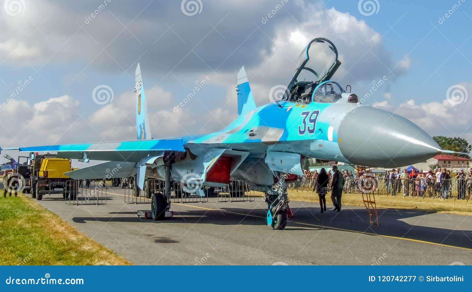 Ukrainian Sukhoi Su-27 Aircraft During Radom Air Show  Editorial