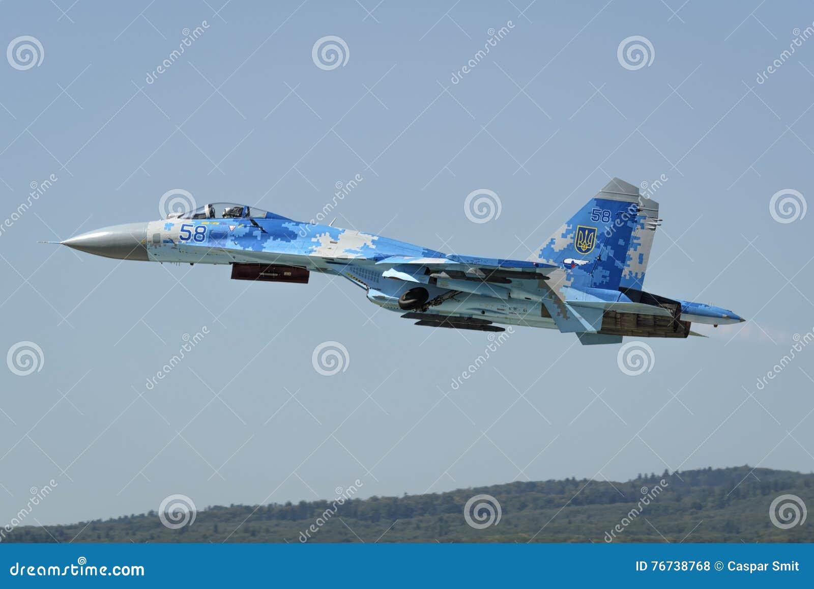 ukrainian sukhoi su 27 flanker editorial stock photo image of