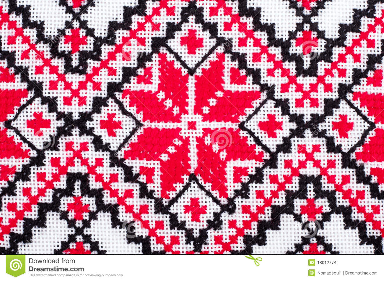 Ukrainian traditional embroidery patterns stock photo