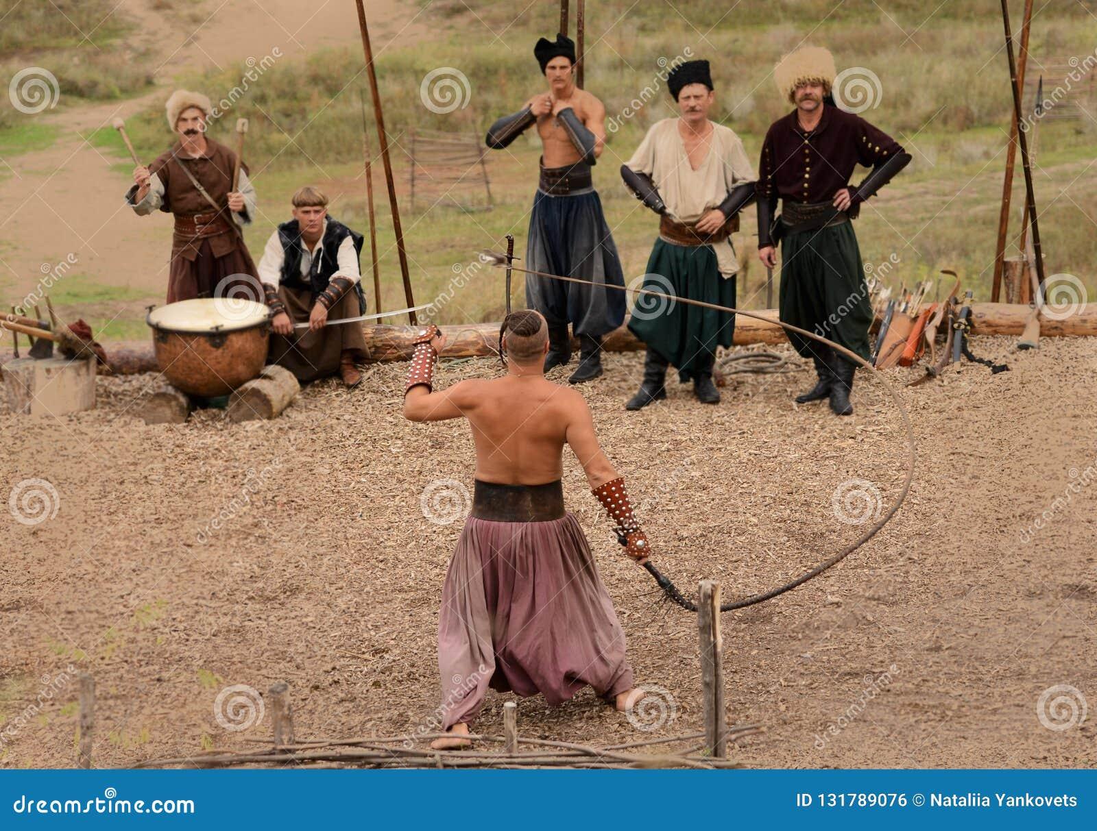 Ukrainian traditional festival in Zaporozhye on the Khortitsa island October 1, 2013