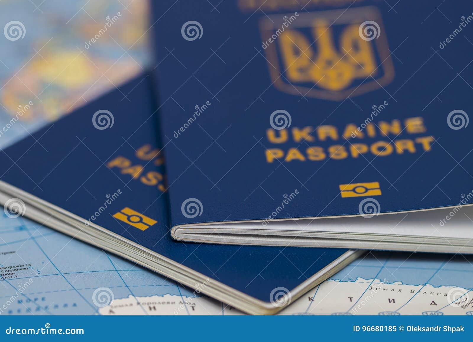 Ukrainian Travel Passport On A World Map Stock Image - Image ...