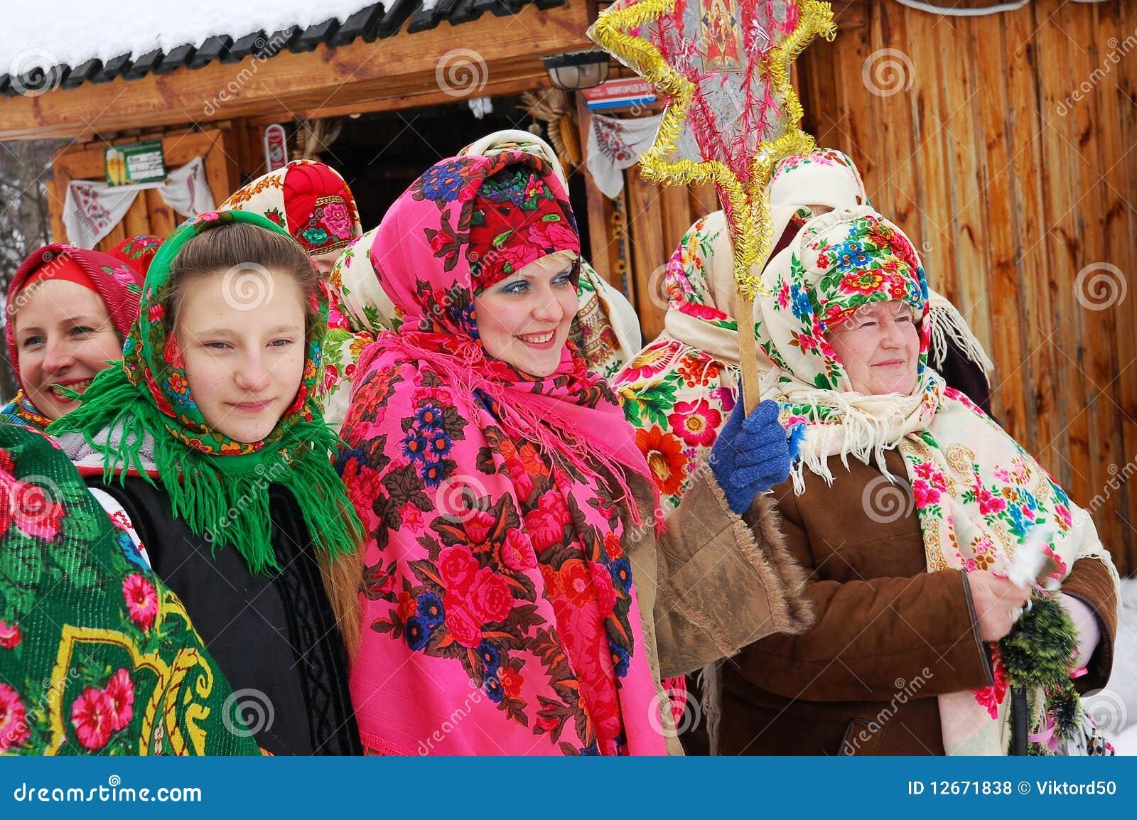 ukrainisches weihnachten redaktionelles stockfoto bild. Black Bedroom Furniture Sets. Home Design Ideas