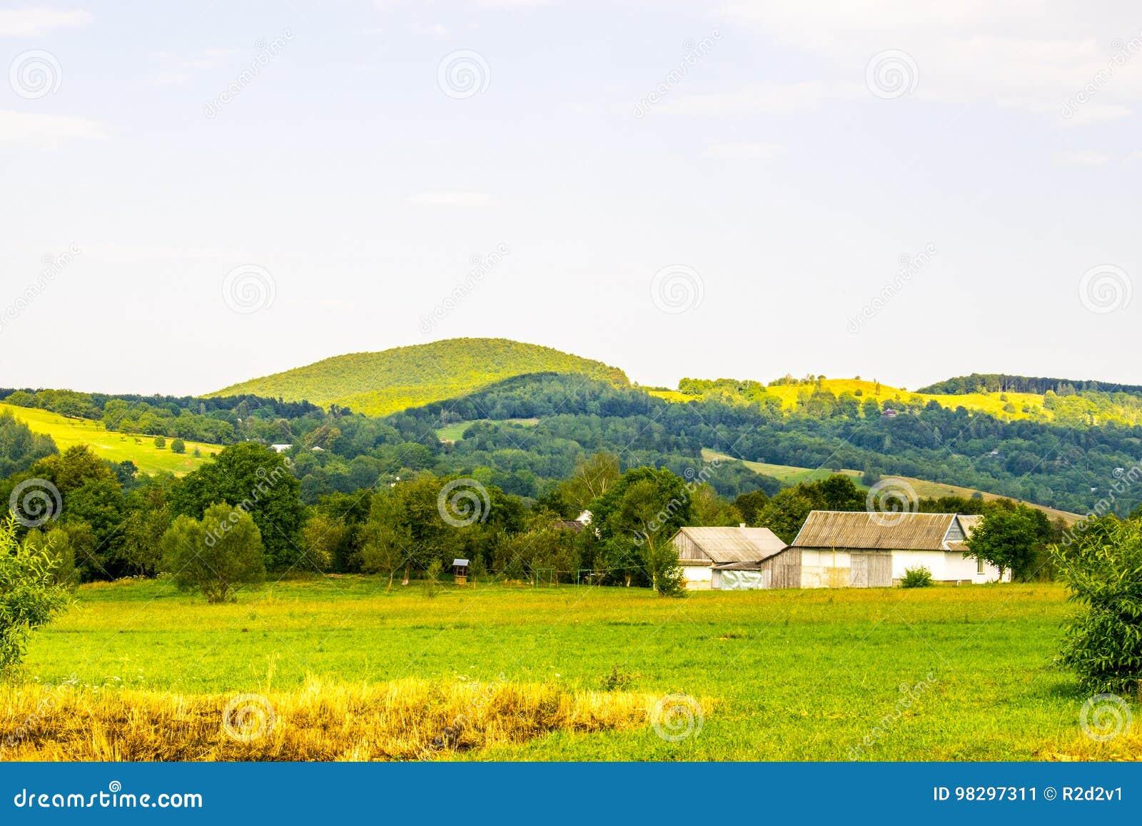 Ukrainsk by i Carpathians