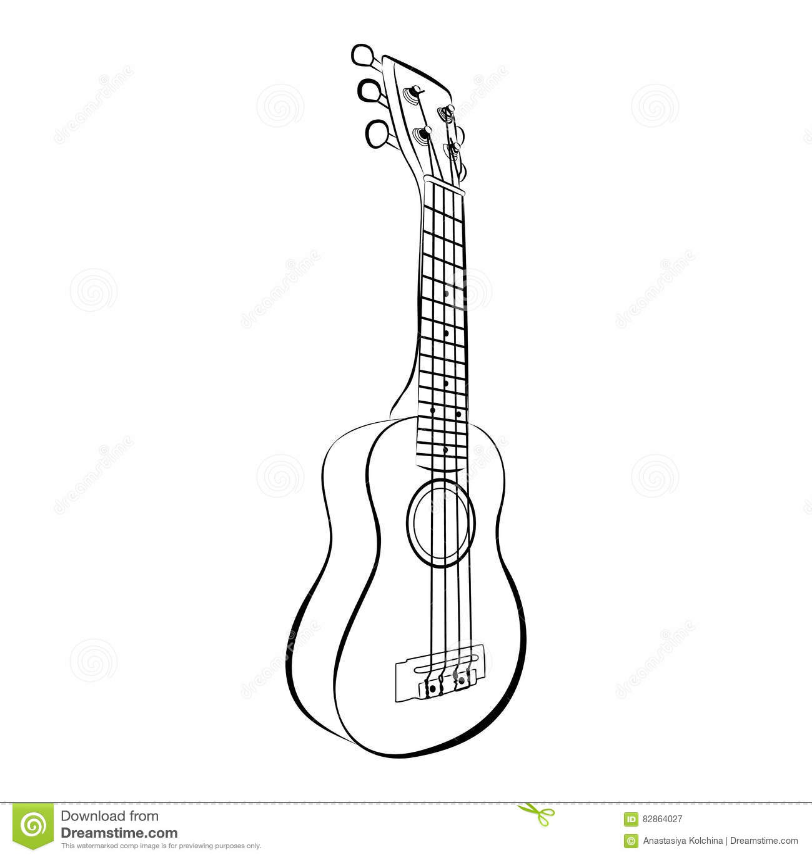 classical acoustic guitar  vector sketch vector