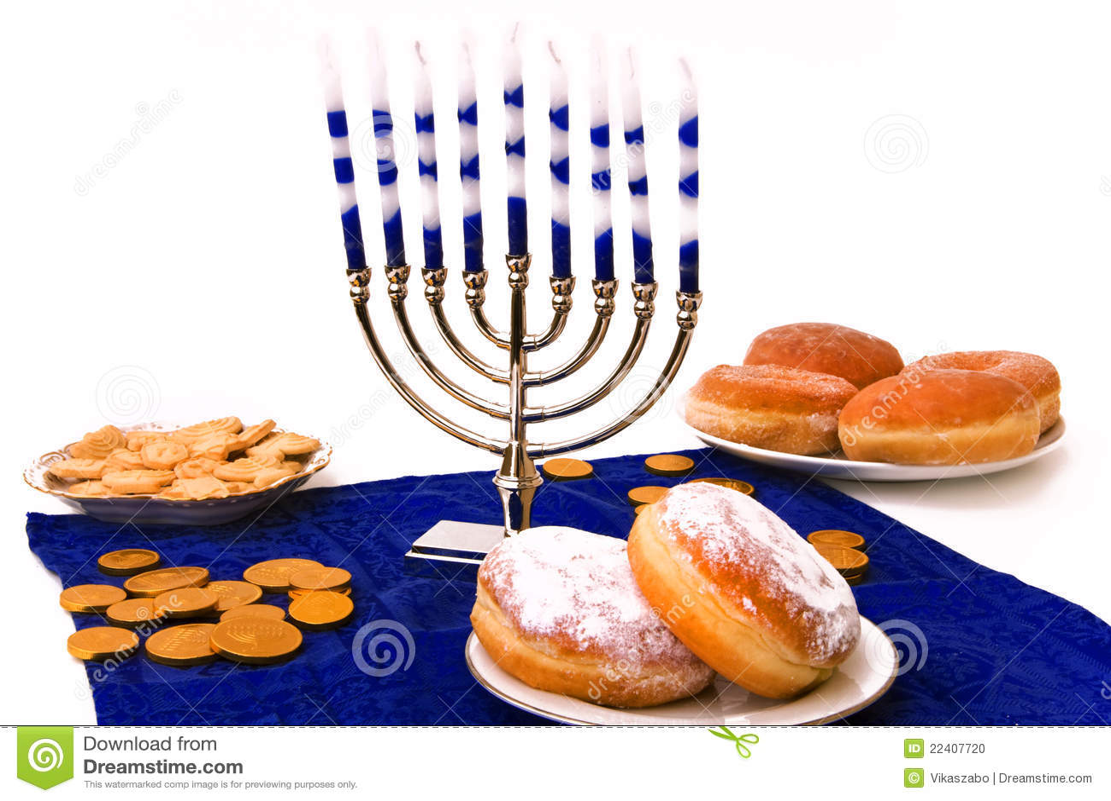 Ukuwać nazwę donuts Hanukkah menorah