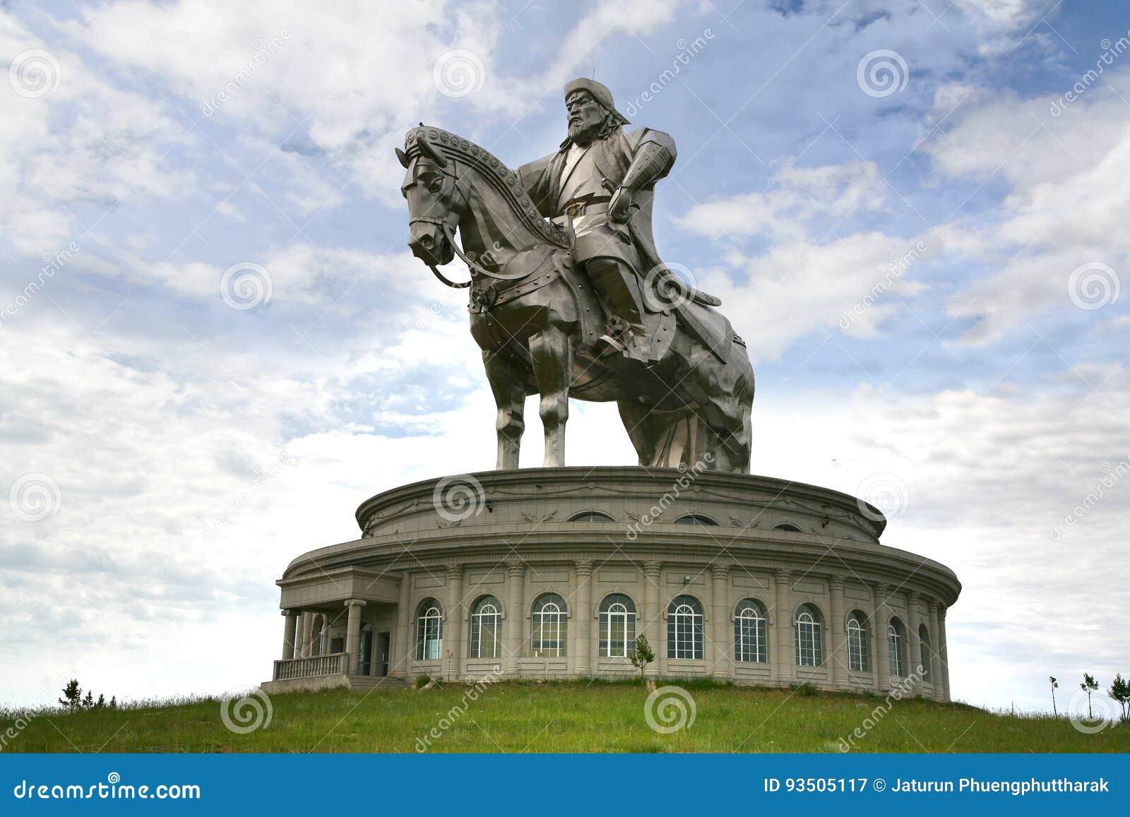 Ulaanbaatar Mongolia July 3 ,2016 At The Genghis Khan Statue on horseback, at Tsonjin Boldogeast of the Mongolian capital Ulaanbaa