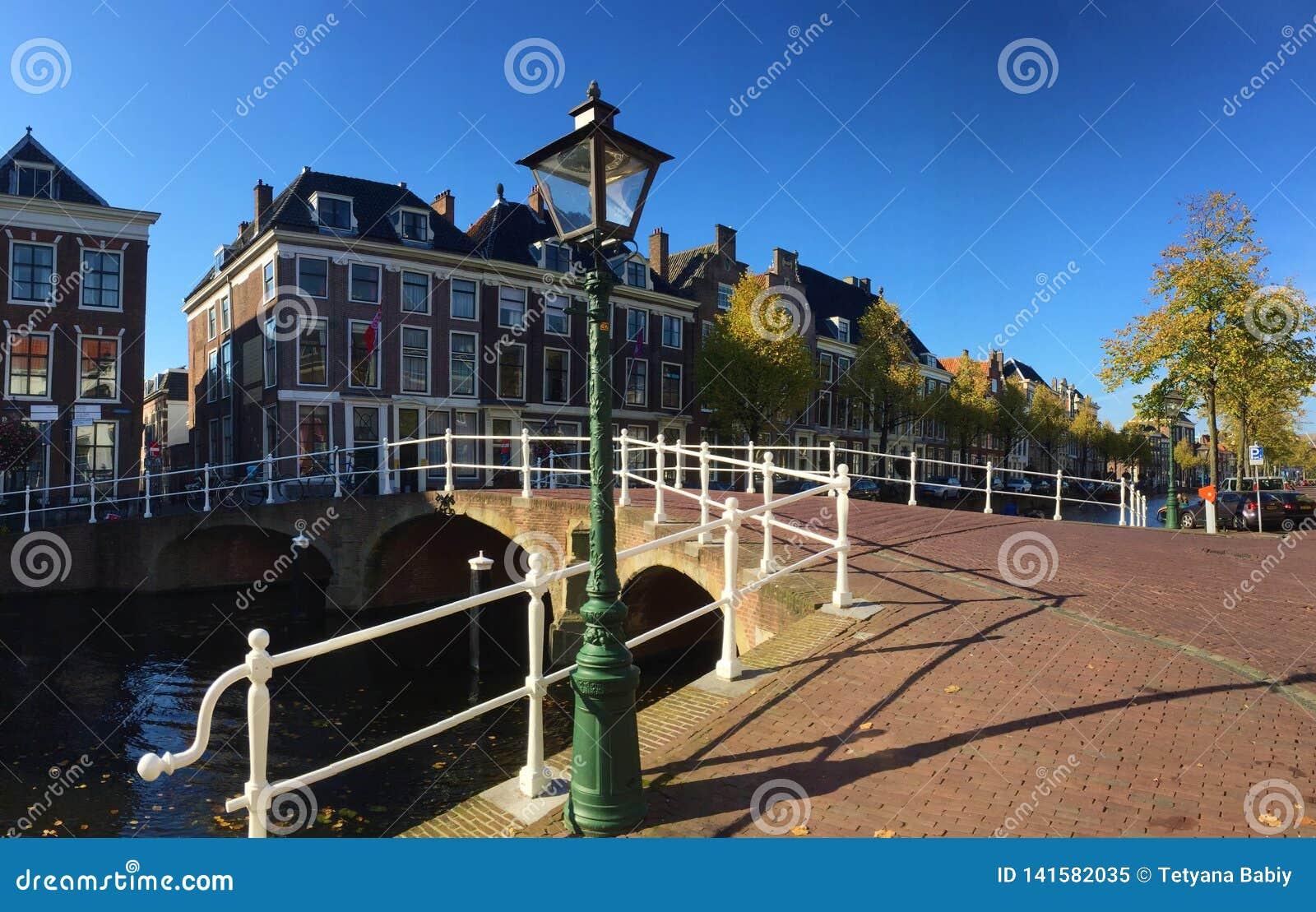 Ulica kanały Północny Holandia