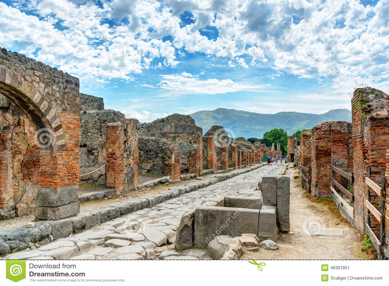 Ulica w Pompeii, Włochy